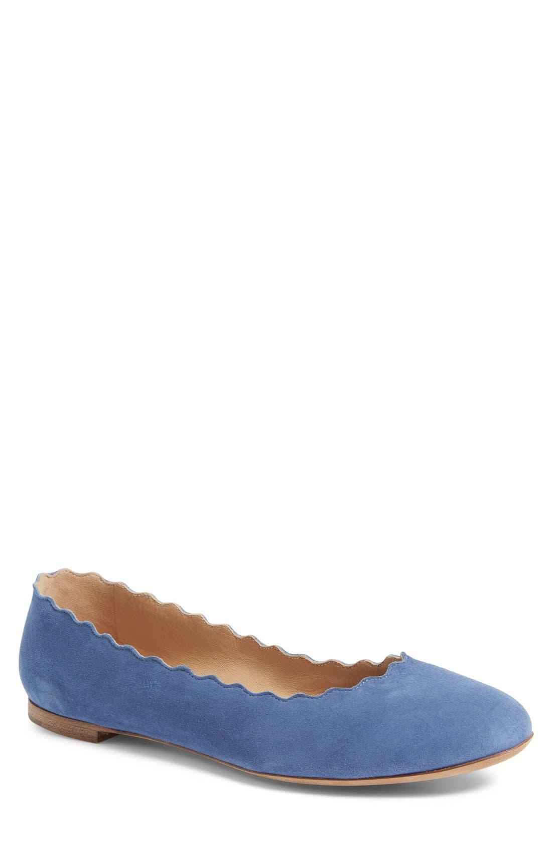 Chloé 'Lauren' Scalloped Ballet Flat (Women)