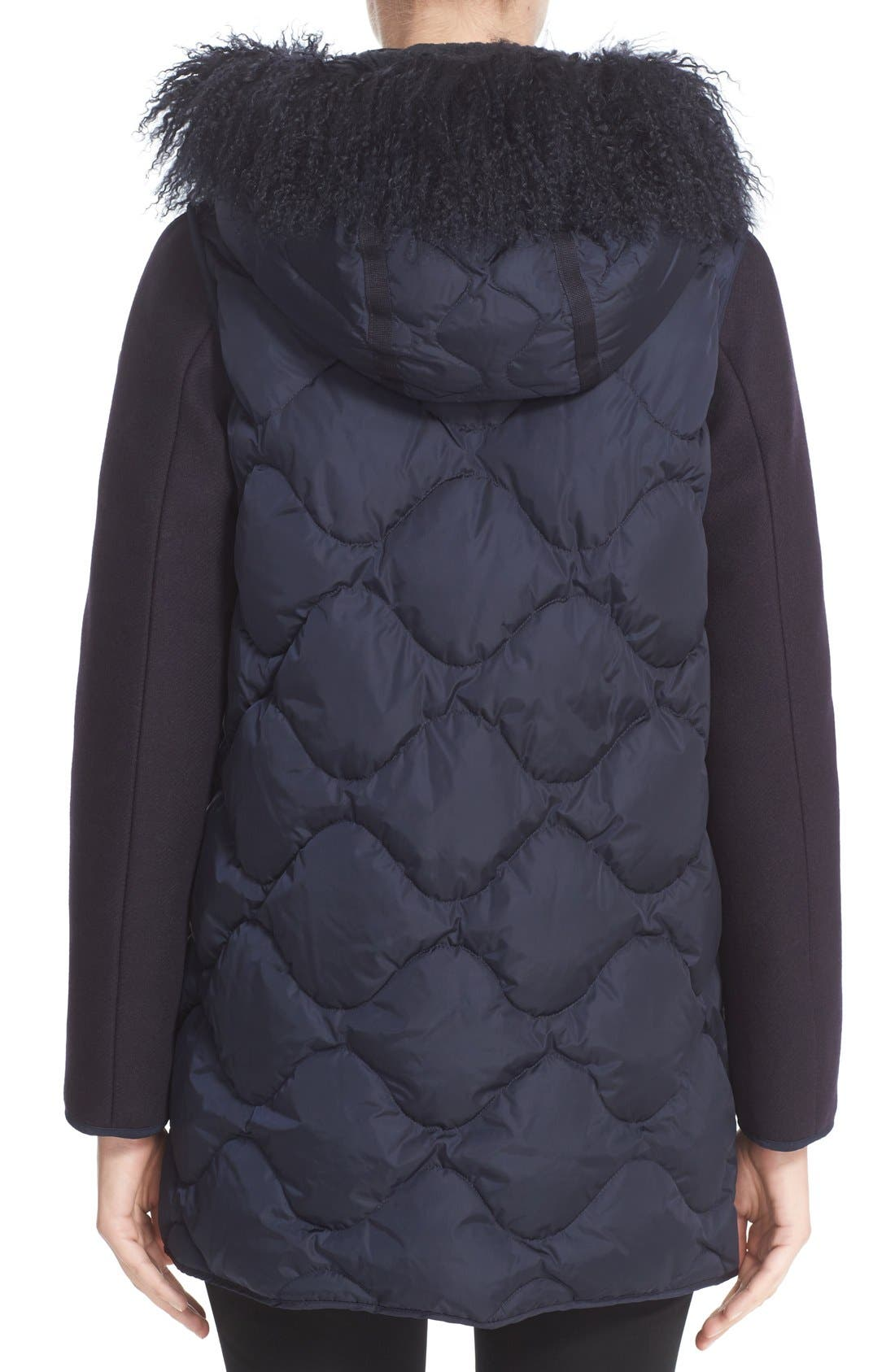 Alternate Image 2  - Moncler Theodora Water Resistant Hooded Jacket with Genuine Mongolian Fur Trim
