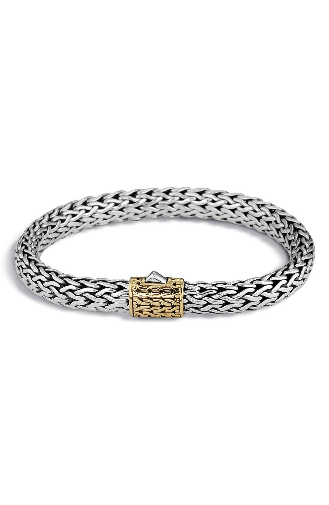 'Classic Chain' Medium Bracelet,                             Main thumbnail 1, color,                             Silver/ Gold