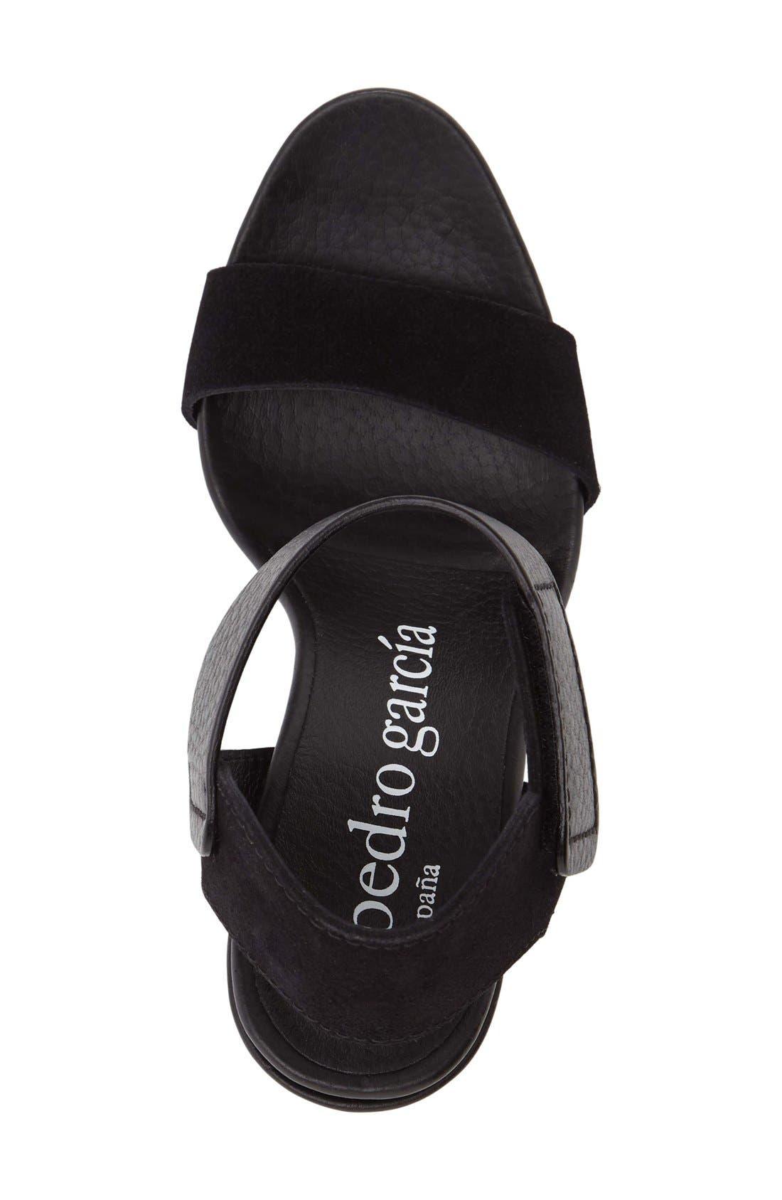 Yola Sandal,                             Alternate thumbnail 3, color,                             Black Leather