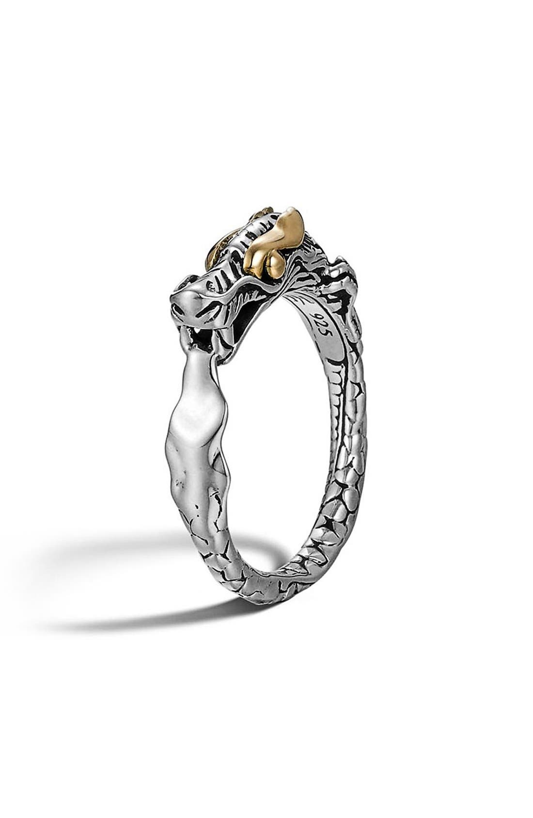 'Legends' Slim Dragon Ring,                         Main,                         color, Silver/Gold