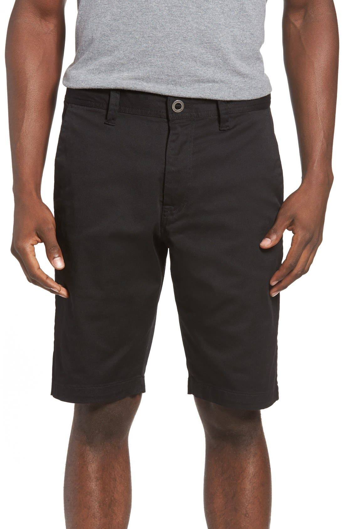 'Modern' Stretch Chino Shorts,                         Main,                         color, Black