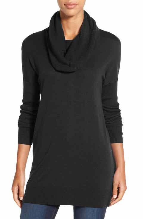 Women's Black Long Sleeve Tunic Sweaters | Nordstrom