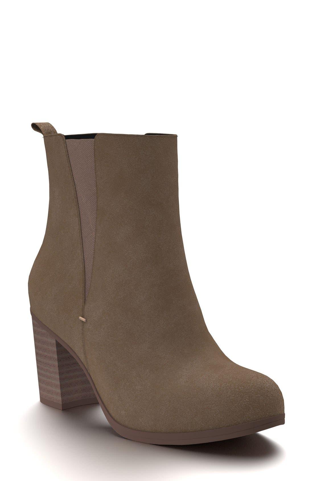 Shoes of Prey Block Heel Chelsea Boot (Women)