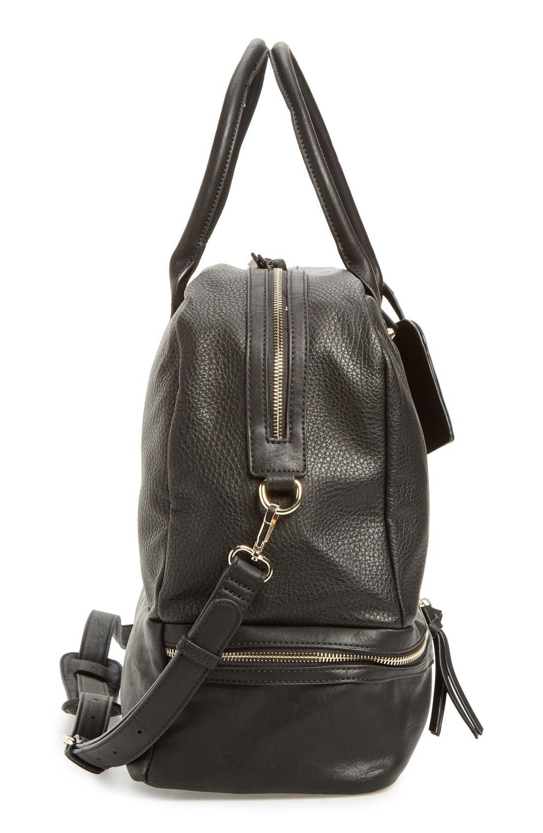 Mason Weekend Bag,                             Alternate thumbnail 5, color,                             Pebbled Black