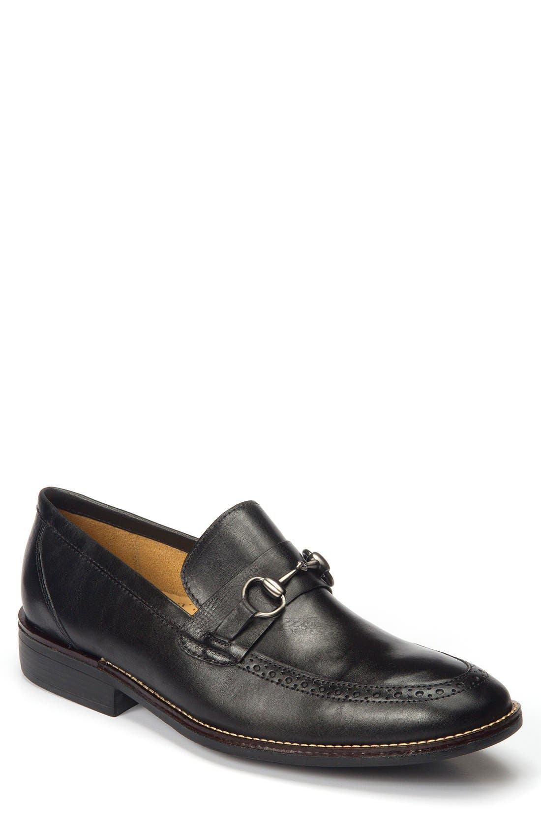 Wesley Bit Loafer,                             Main thumbnail 1, color,                             Black Leather
