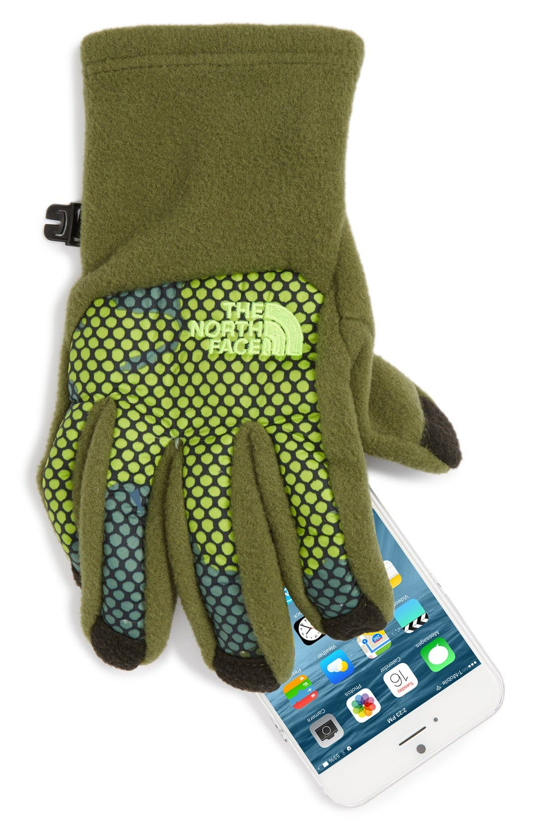 Alternate Image 2  - The North Face 'Denali E-Tip' Gloves (Boys)