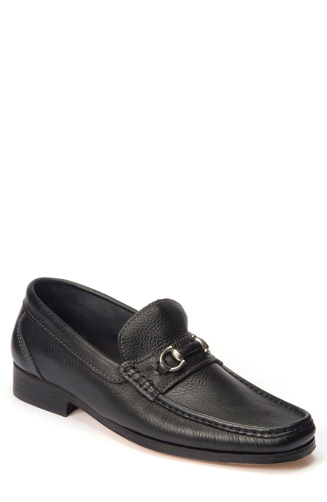 Garda Bit Loafer,                             Main thumbnail 1, color,                             Black Leather