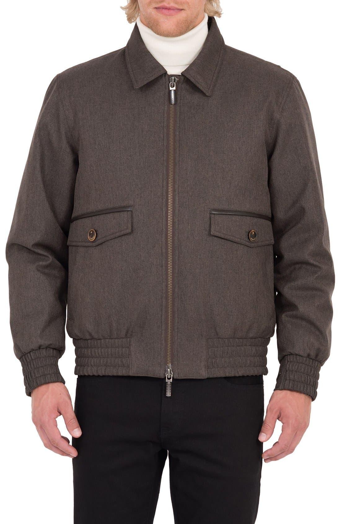 Wainwright Waterproof Twill Bomber Jacket,                             Main thumbnail 1, color,                             Acorn