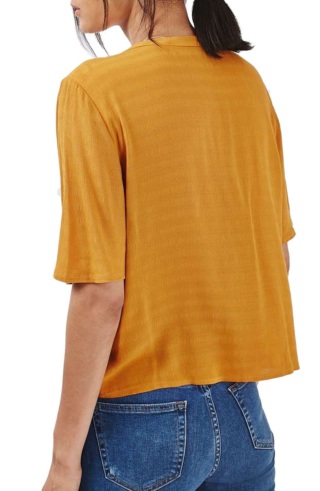 Alternate Image 3  - Topshop 'Holly' Short Sleeve V-Neck Shirt