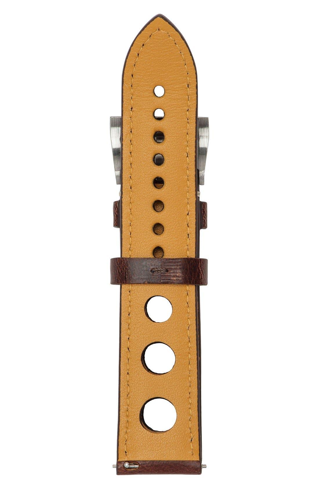 Alternate Image 2  - Jack Mason Perforated Leather Strap, 22mm