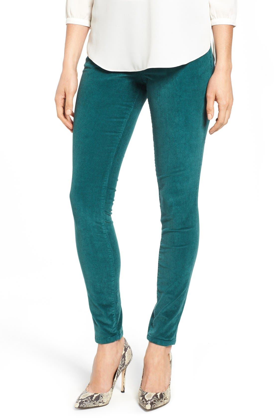 Alternate Image 1 Selected - Jag Jeans Nora Pull-On Stretch Skinny Corduroy Pants (Regular & Petite)