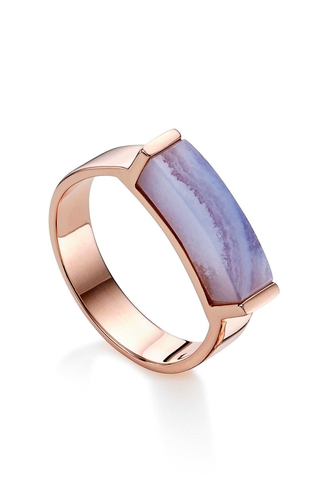 Alternate Image 1 Selected - Monica Vinader Linear Stone Ring