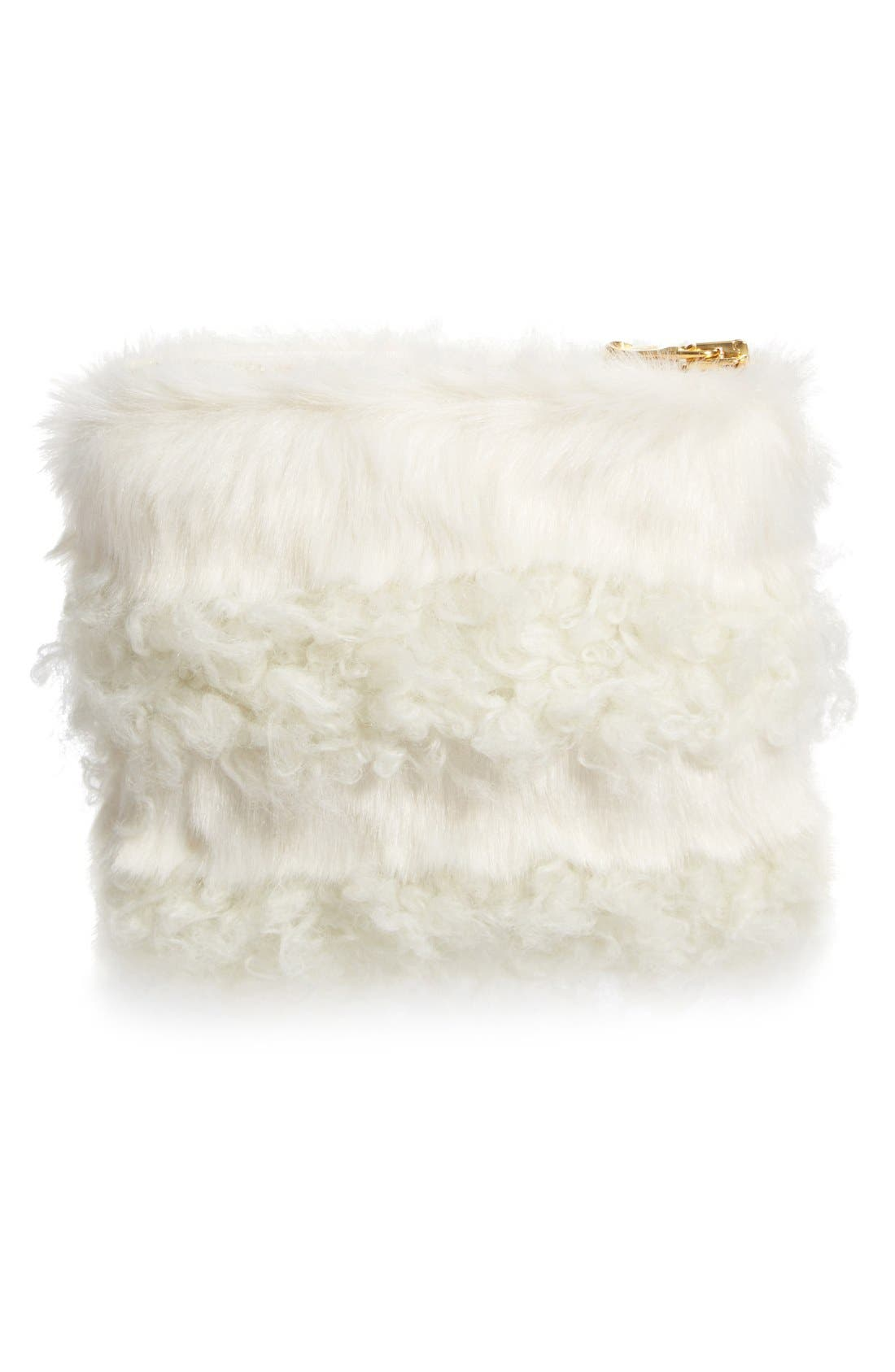 Alternate Image 3  - Shrimps Jenny Faux Shearling Clutch (Nordstrom Exclusive)