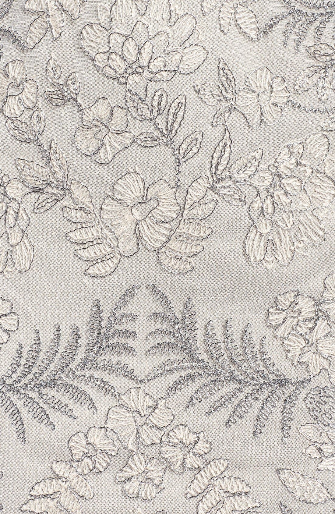 Lace Sheath Dress,                             Alternate thumbnail 6, color,                             Light Pearl