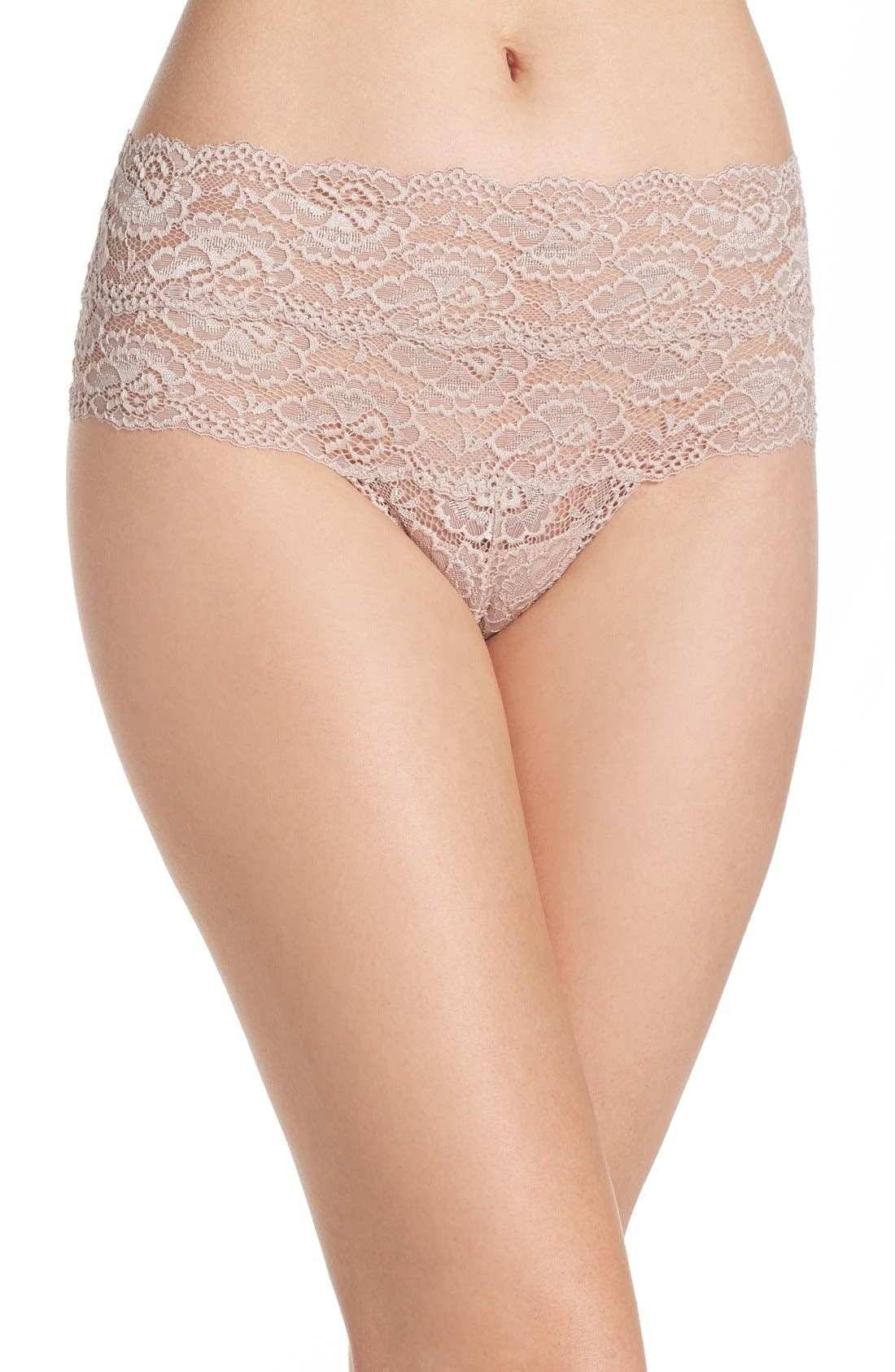 Goddess High Rise Thong,                         Main,                         color, Cashmere