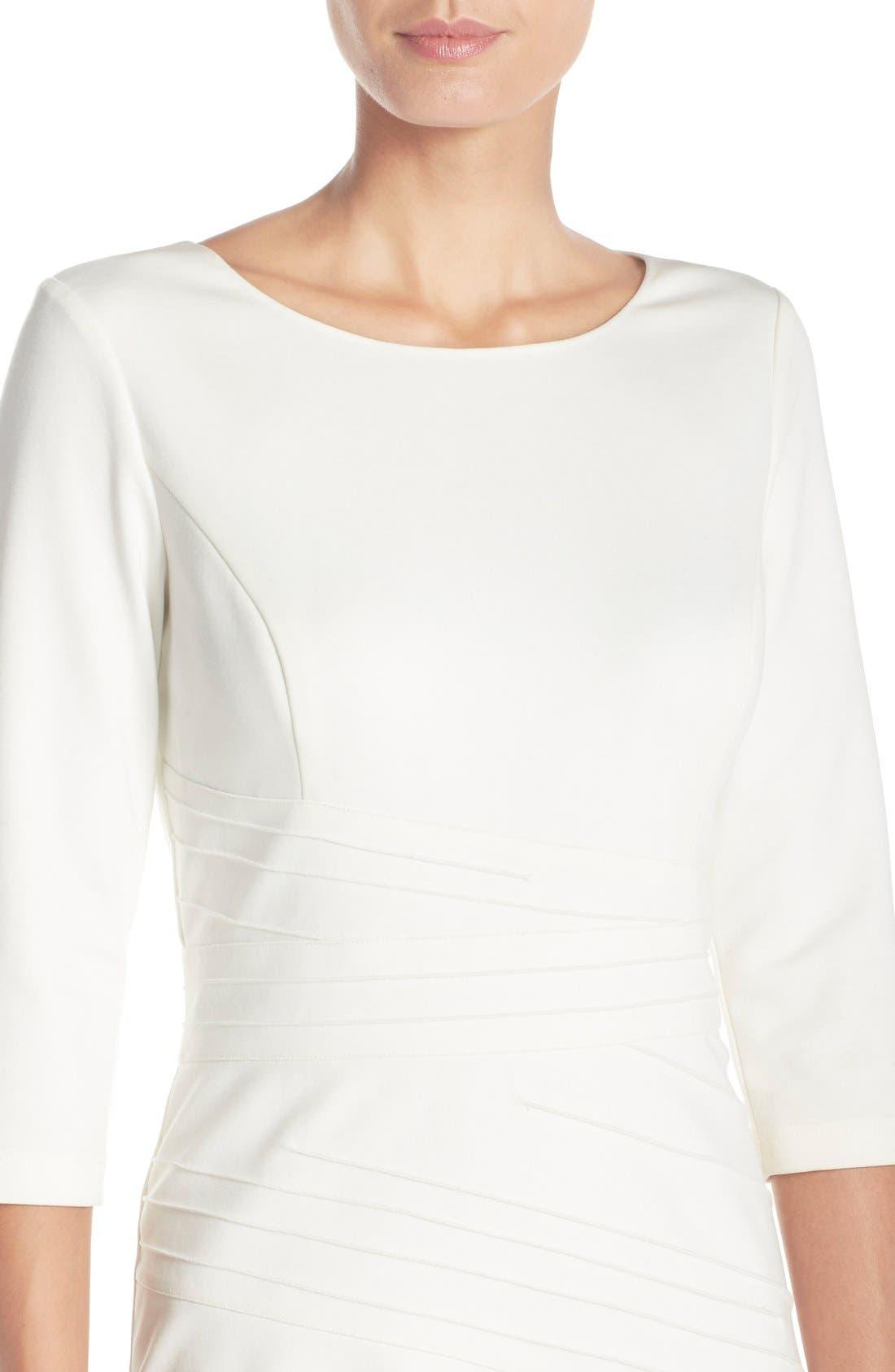 Alternate Image 5  - Ellen Tracy Seamed PonteSheath Dress (Regular & Petite)