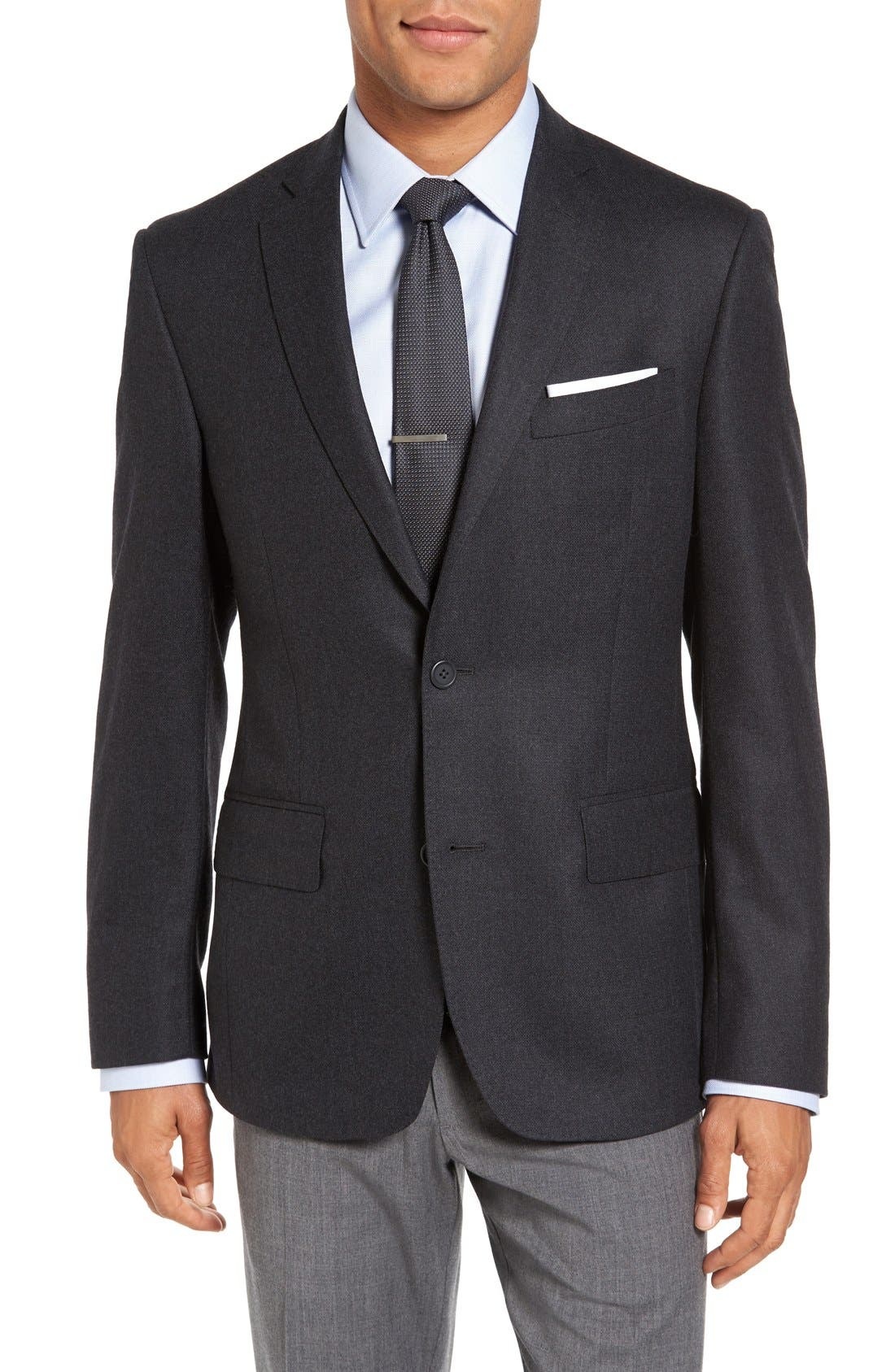 Classic Fit Wool & Cashmere Blazer,                         Main,                         color, Charcoal
