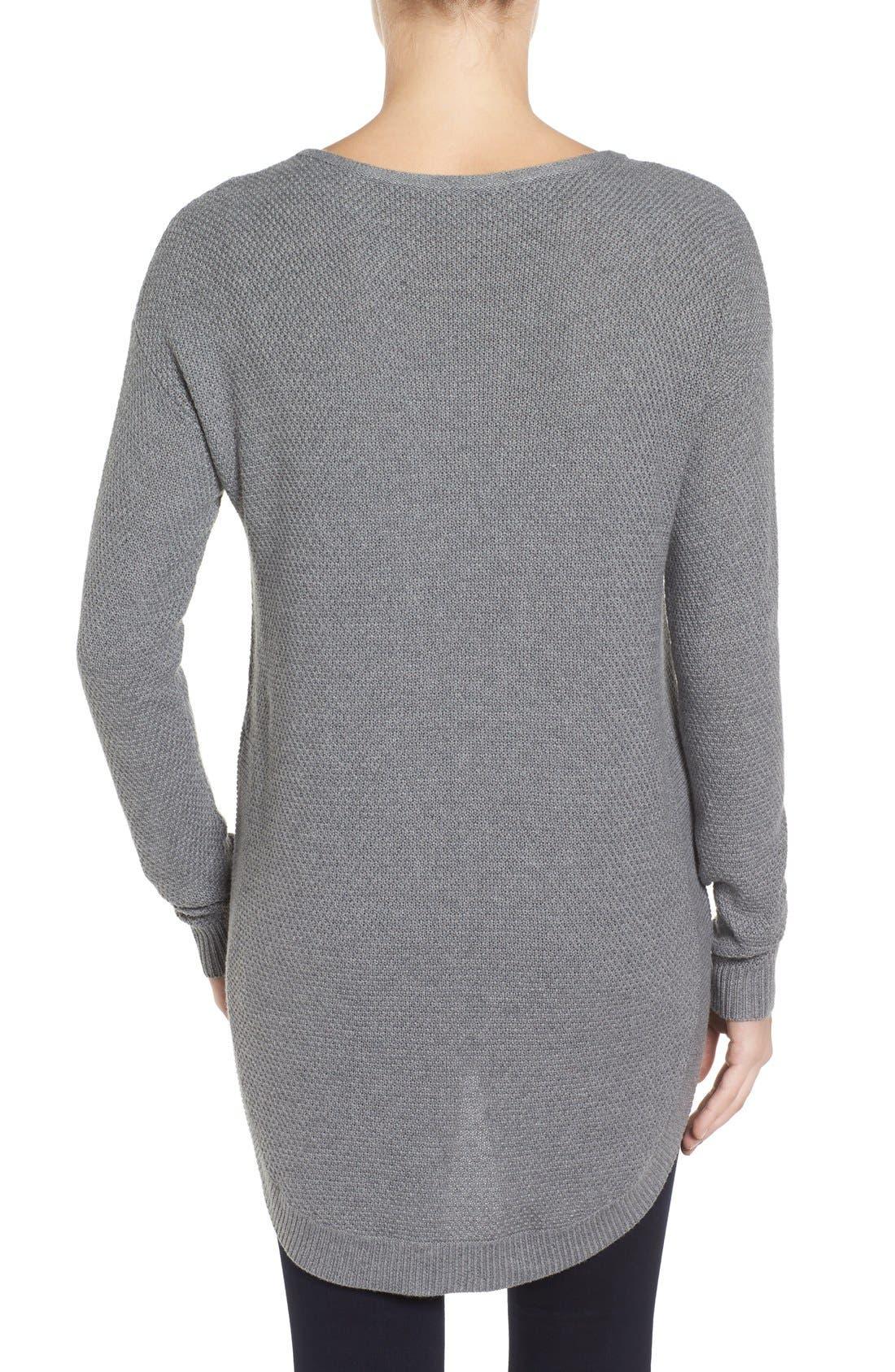 Alternate Image 2  - Caslon® Texture Knit Tunic (Regular & Petite)