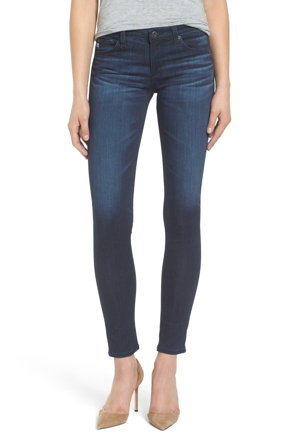 Alternate Image 1 Selected - AG 'The Stilt' Cigarette Skinny Jeans (3 Year Imagination)