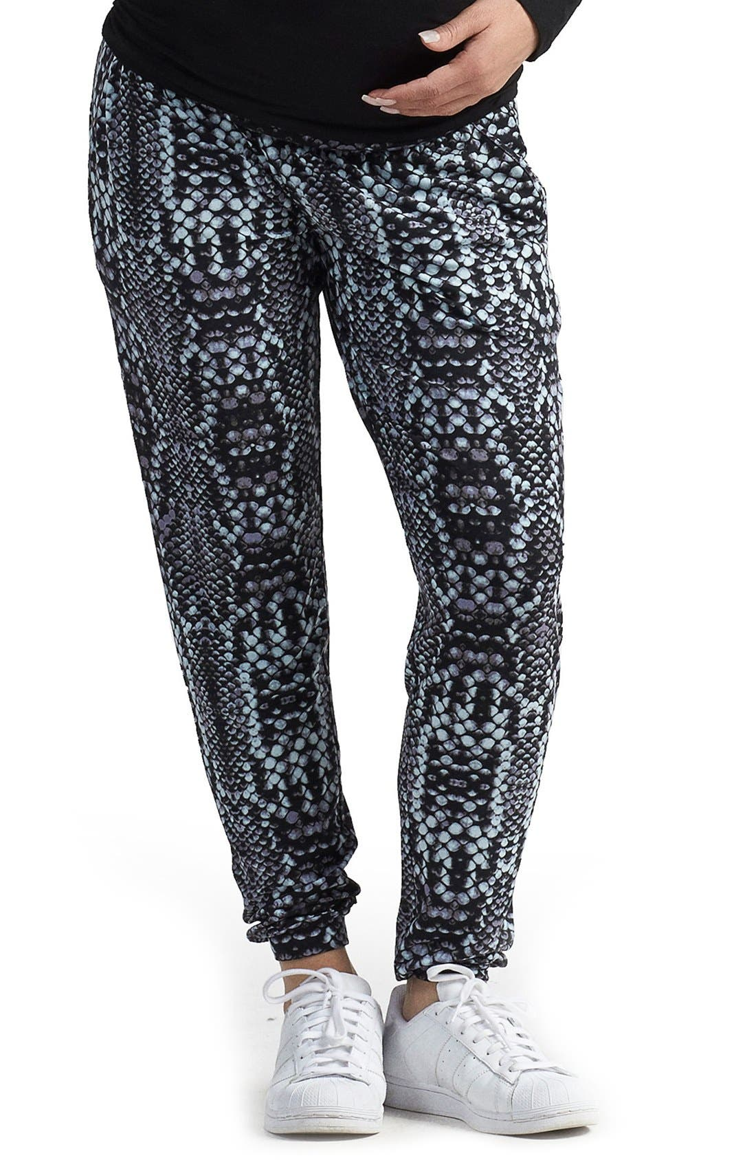 'Liviana' Tapered Maternity Pants,                         Main,                         color, Python Tintype