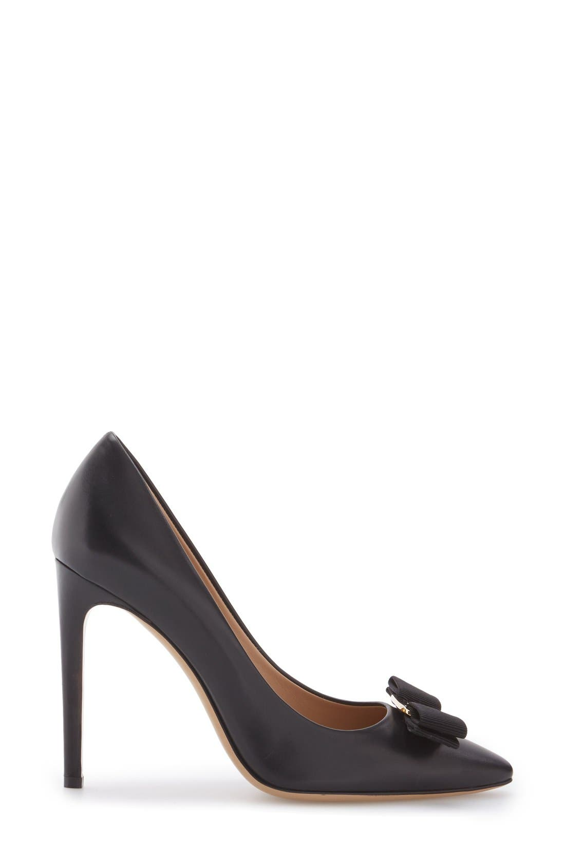 Alternate Image 3  - Salvatore Ferragamo Emy Pointed Toe Bow Pump (Women)