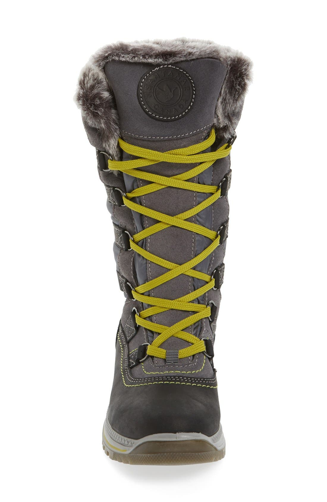 Milani Waterproof Faux Fur Boot,                             Alternate thumbnail 3, color,                             Grey Leather