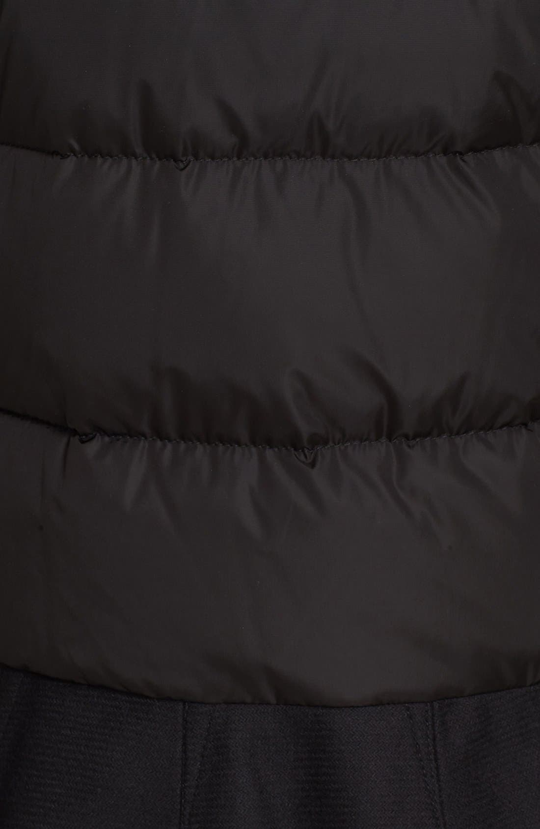 Nesea Peplum Hem Down Puffer Jacket,                             Alternate thumbnail 3, color,                             Black
