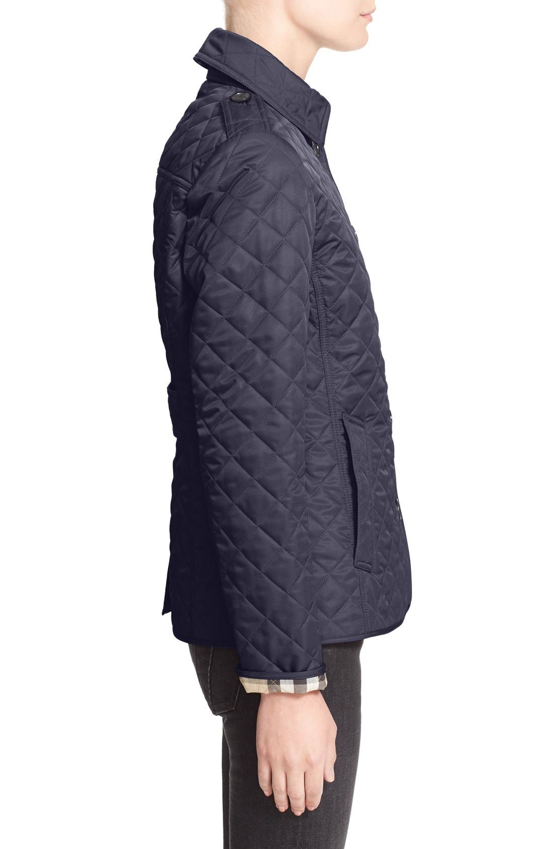 Ashurst Quilted Jacket,                             Alternate thumbnail 4, color,                             Navy