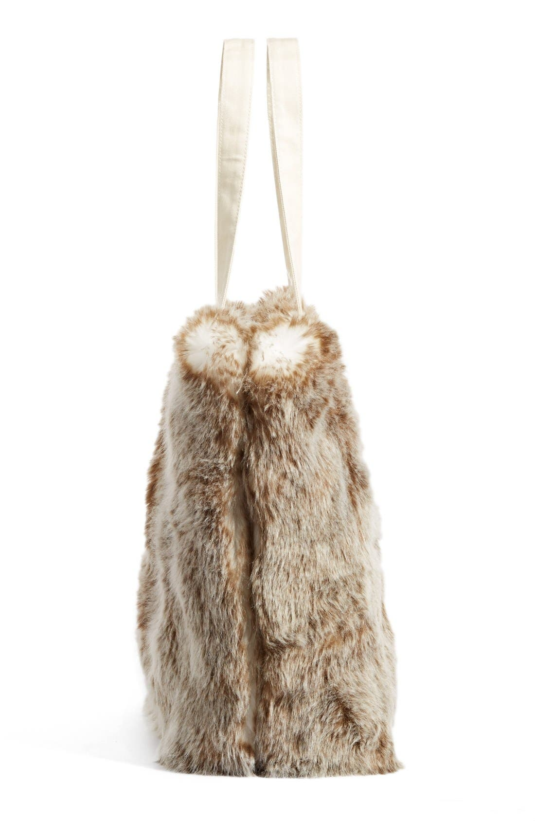 Alternate Image 5  - Nordstrom at Home Cuddle Up Faux Fur Tote