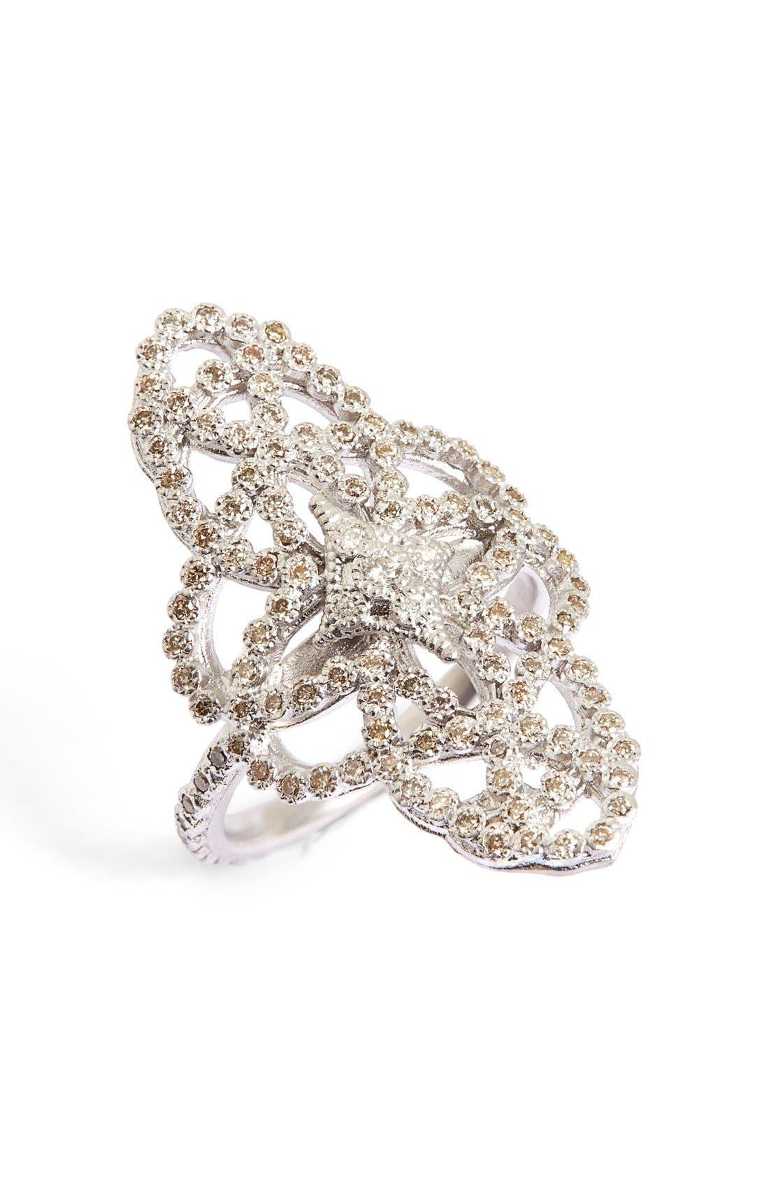 New World Crivelli Eternity Diamond Ring,                         Main,                         color, Silver