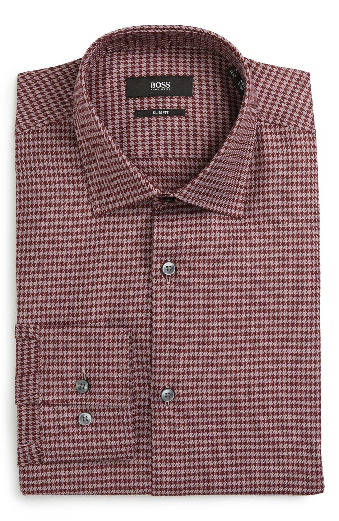 Alternate Image 1 Selected - BOSS Slim Fit Houndstooth Dress Shirt