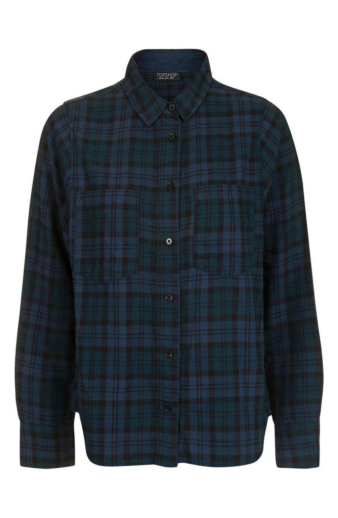 Alternate Image 4  - Topshop Plaid Flannel Pajama Shirt