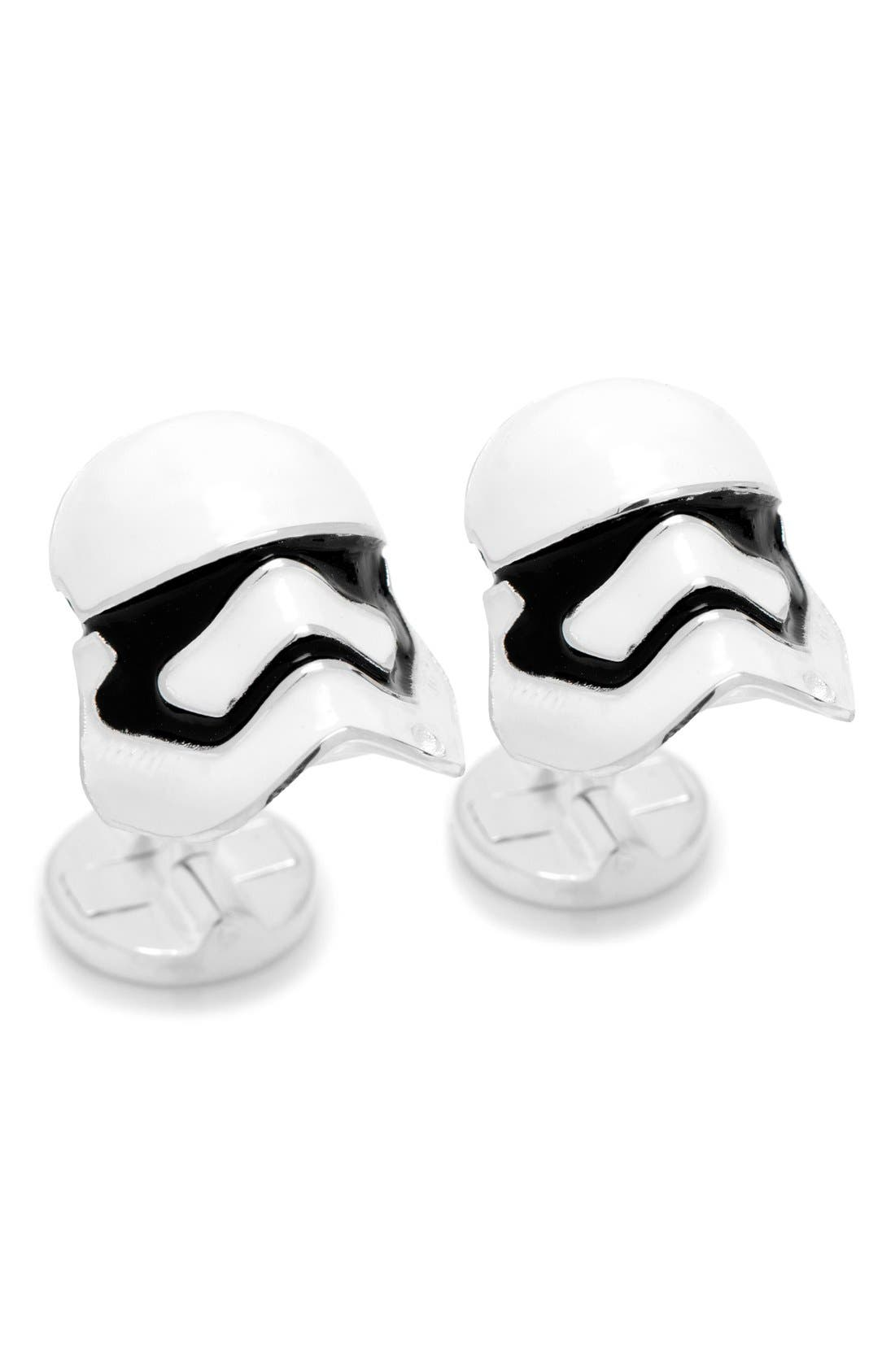 Star Wars Stormtrooper Cuff Links,                             Main thumbnail 1, color,                             White