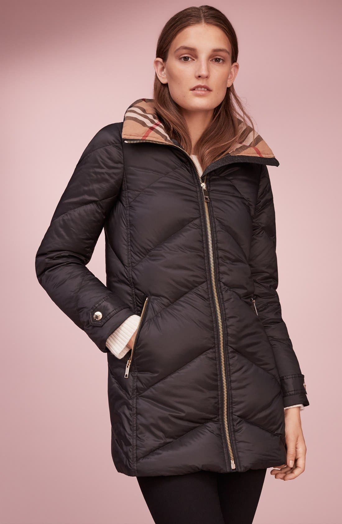 Alternate Image 7  - Burberry Eastwick Chevron Quilted Coat