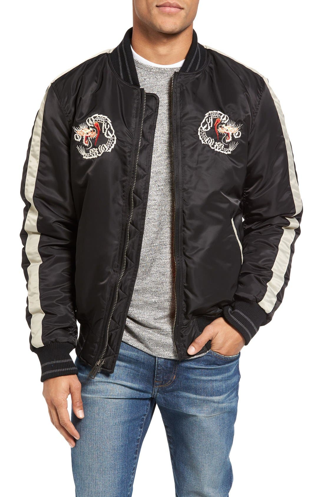 Alternate Image 1 Selected - Schott NYC Nylon Souvenir Flight Jacket