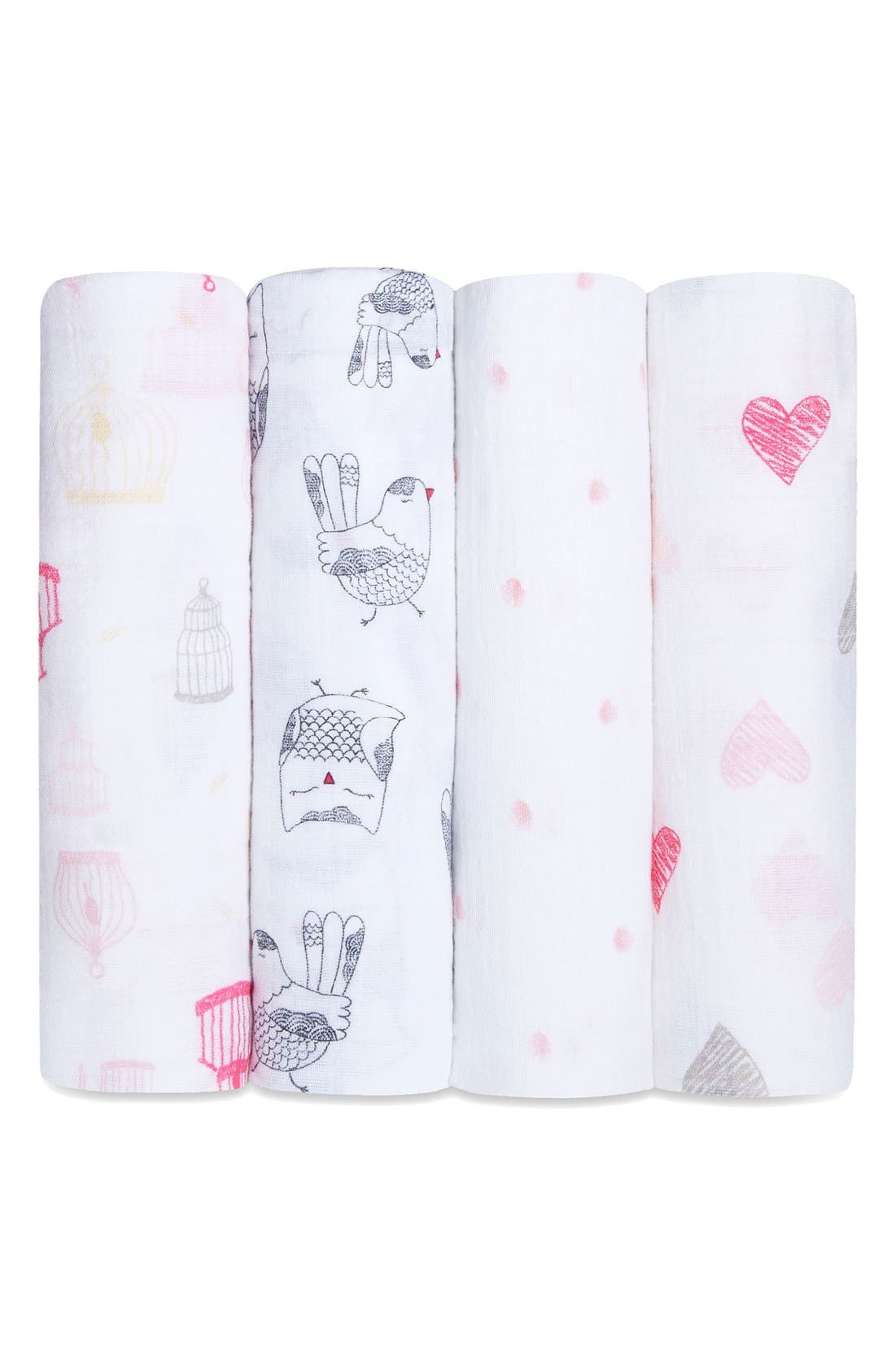 Main Image - aden + anais 4-Pack Classic Swaddling Cloths