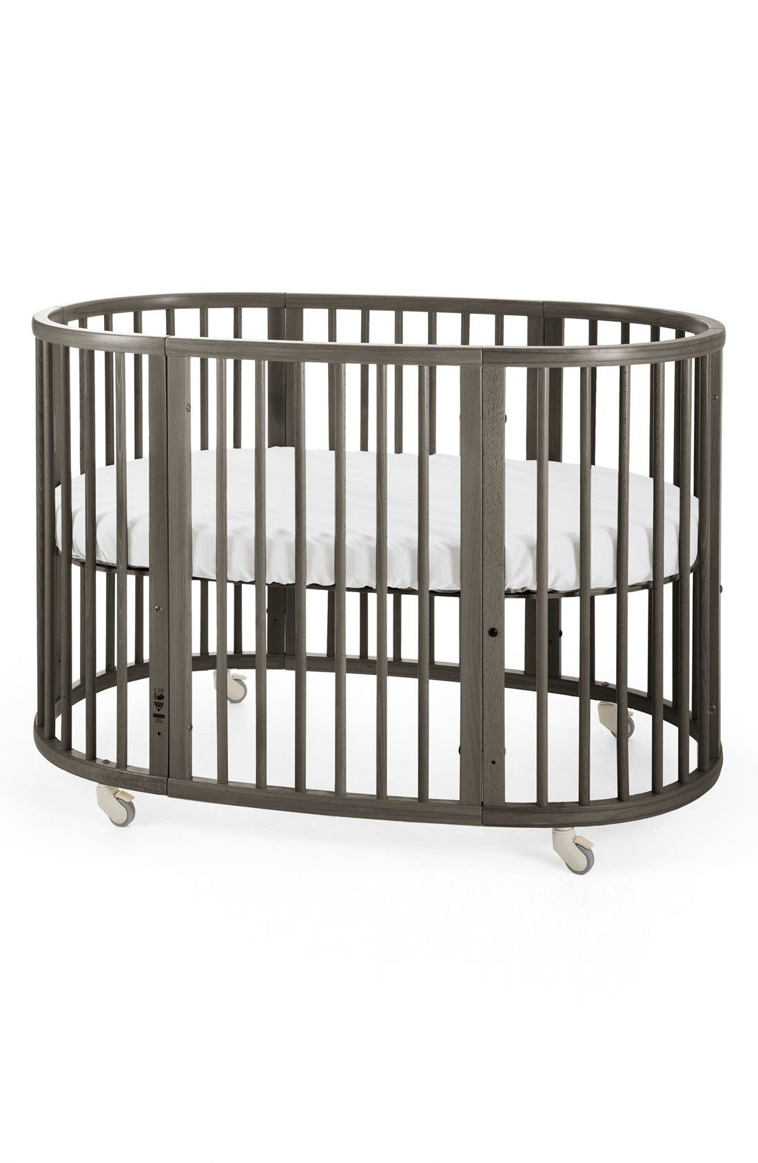 Convertible Sleepi Crib & Toddler Bed,                             Alternate thumbnail 4, color,                             Hazy Grey