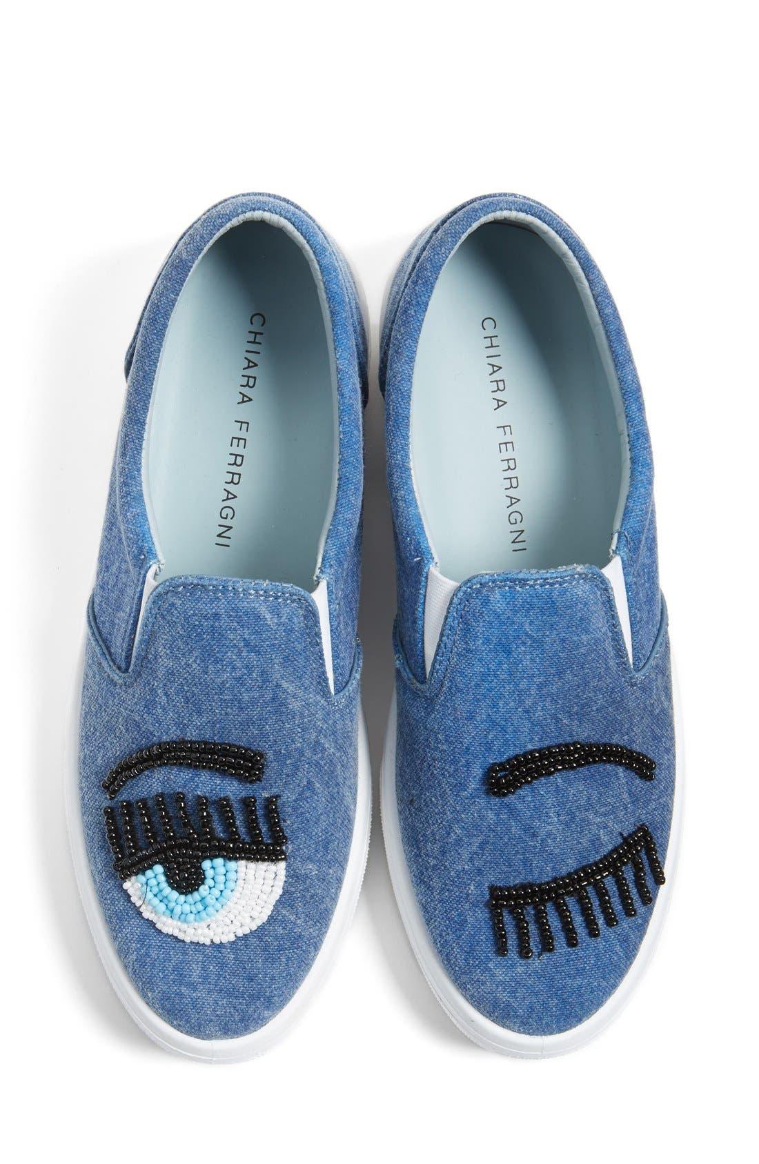 Alternate Image 1 Selected - Chiara Ferragni Flirting Beaded Slip-On Sneaker (Women)