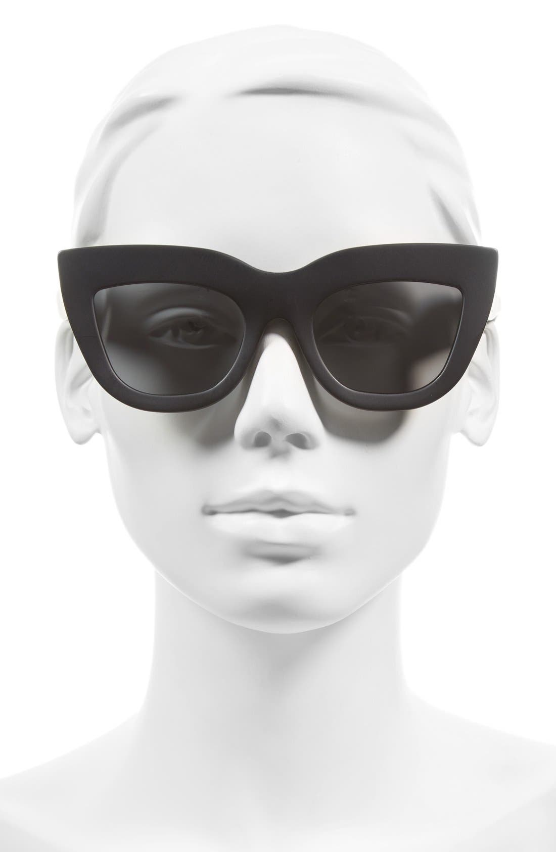 Marmont 52mm Cat Eye Sunglasses,                             Alternate thumbnail 2, color,                             Matte Black