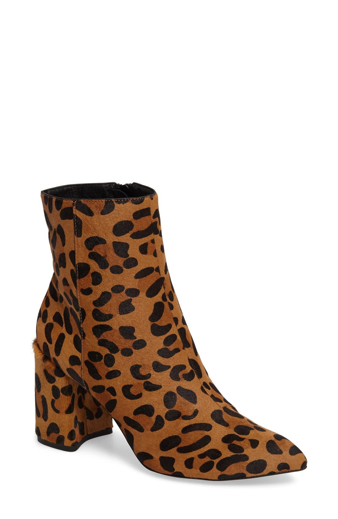 Alternate Image 1 Selected - Topshop Heart Genuine Calf Hair Boot (Women)