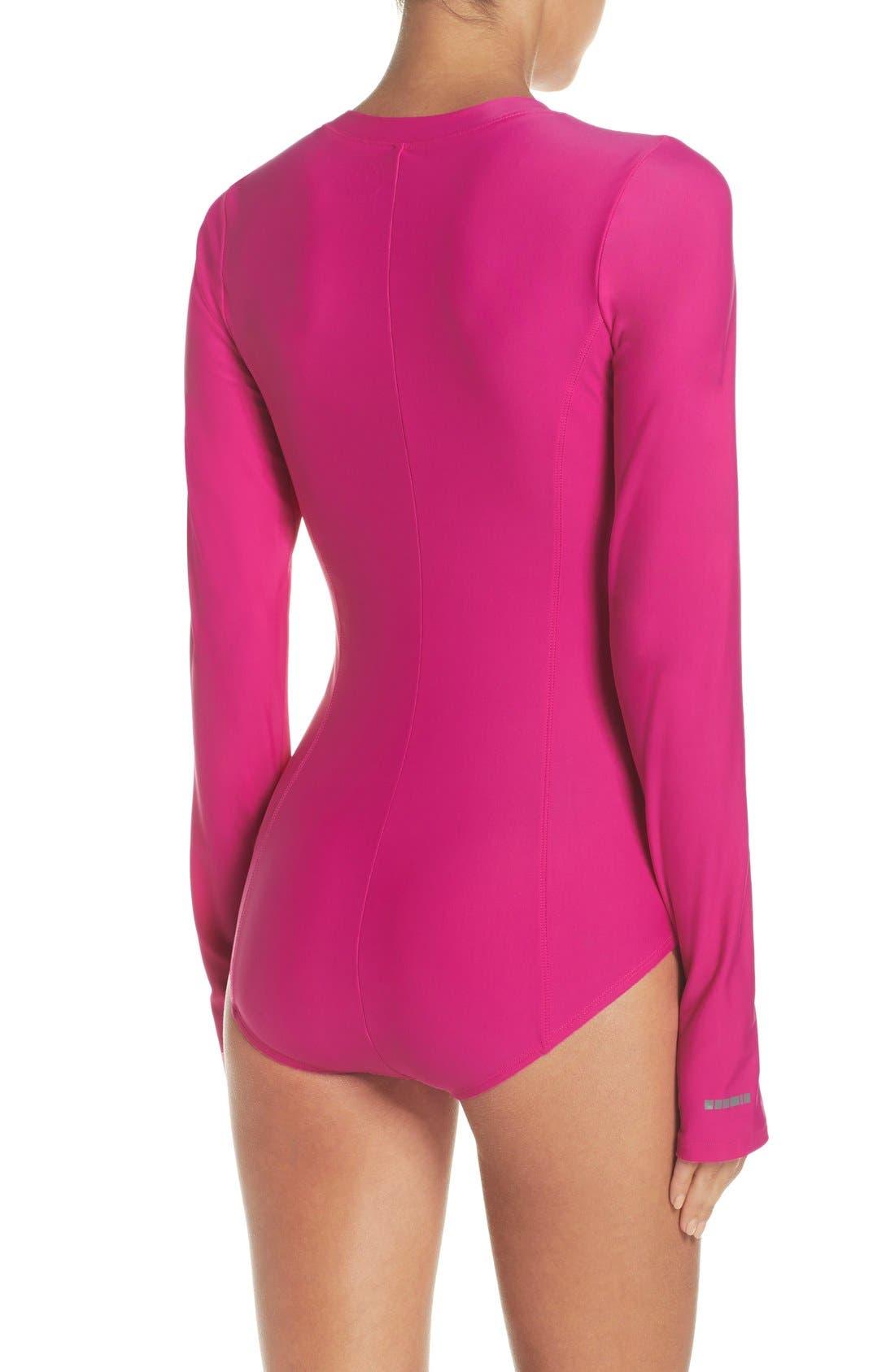 Alternate Image 2  - Mott 50 Long Sleeve One-Piece Swimsuit (UPF 50)