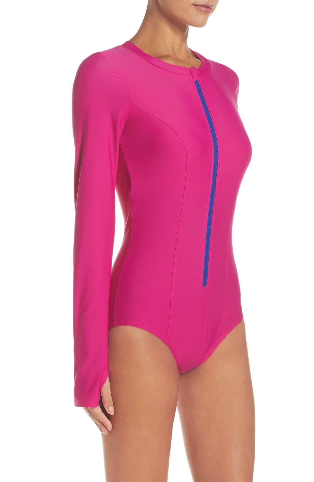 Alternate Image 3  - Mott 50 Long Sleeve One-Piece Swimsuit (UPF 50)
