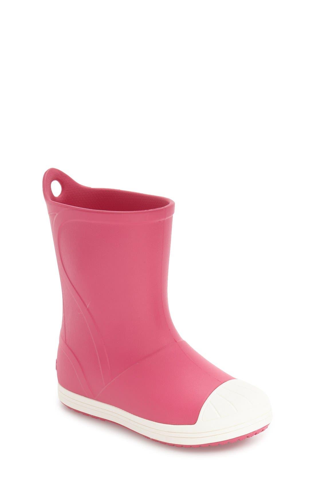 Bump It Waterproof Rain Boot,                             Main thumbnail 1, color,                             Candy Pink/ Oyster