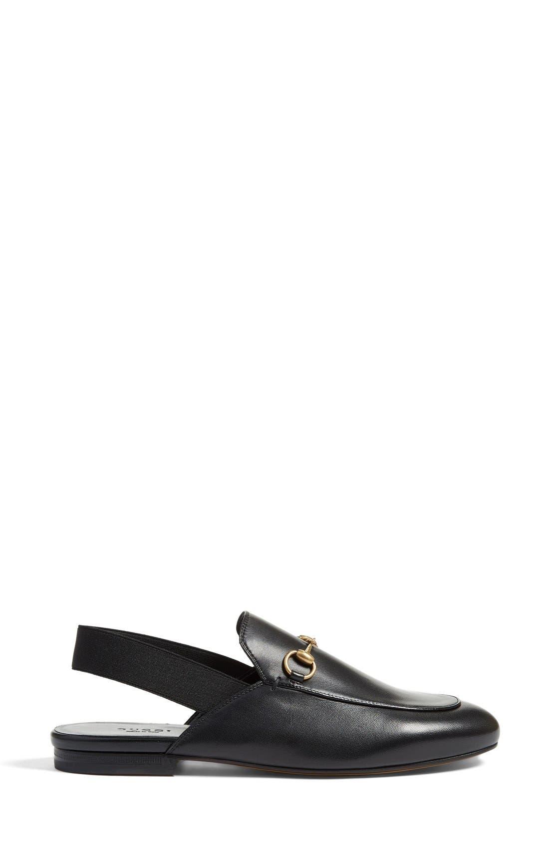 Kings Slingback Mule,                             Alternate thumbnail 4, color,                             Black Leather