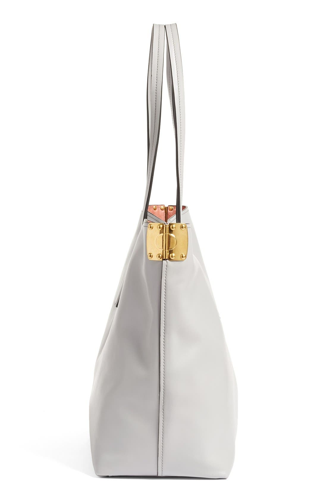 Alternate Image 5  - Miu Miu Large Calfskin Leather Shopper