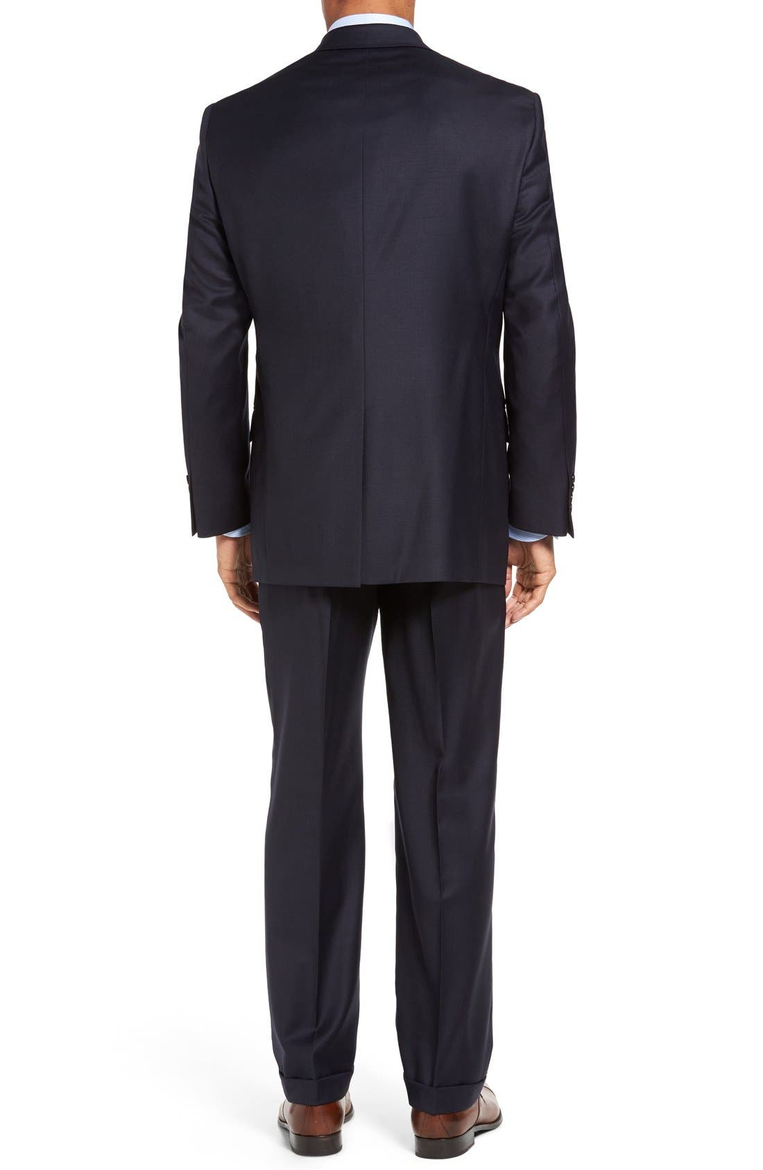 Chicago Classic Fit Solid Wool Suit,                             Alternate thumbnail 2, color,                             Navy