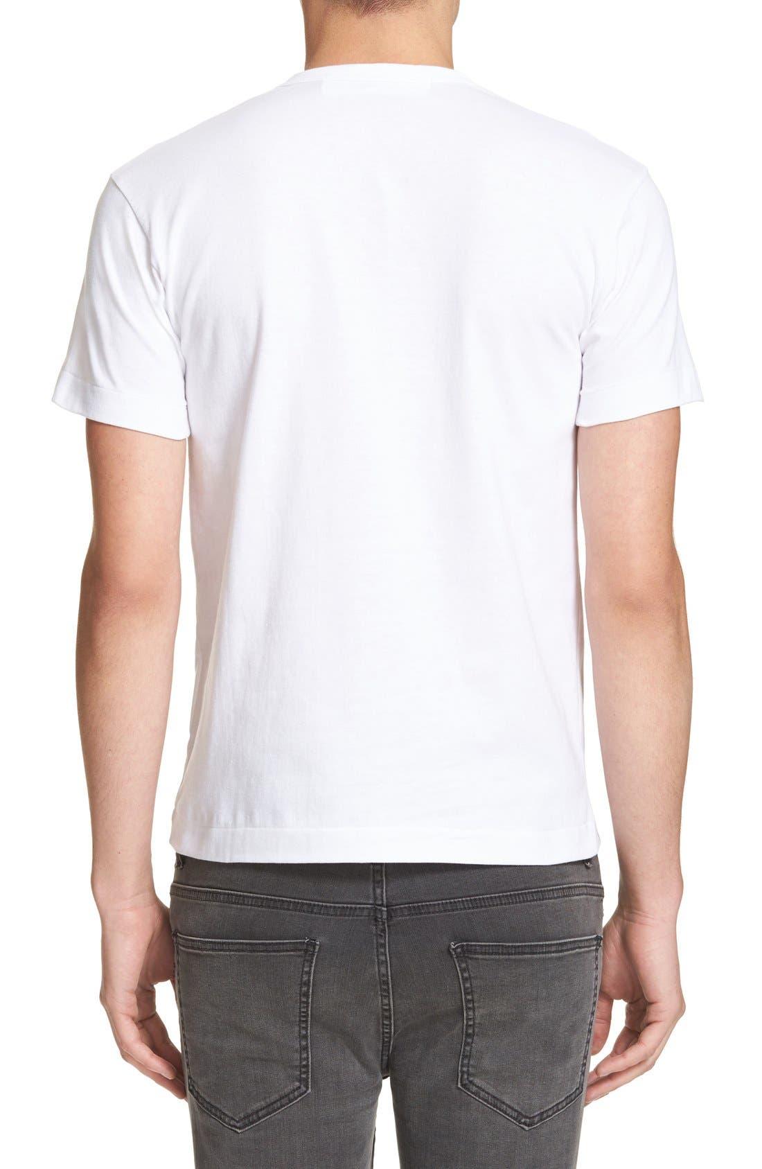 Comme des Garçons PLAY Graphic T-Shirt,                             Alternate thumbnail 2, color,                             White