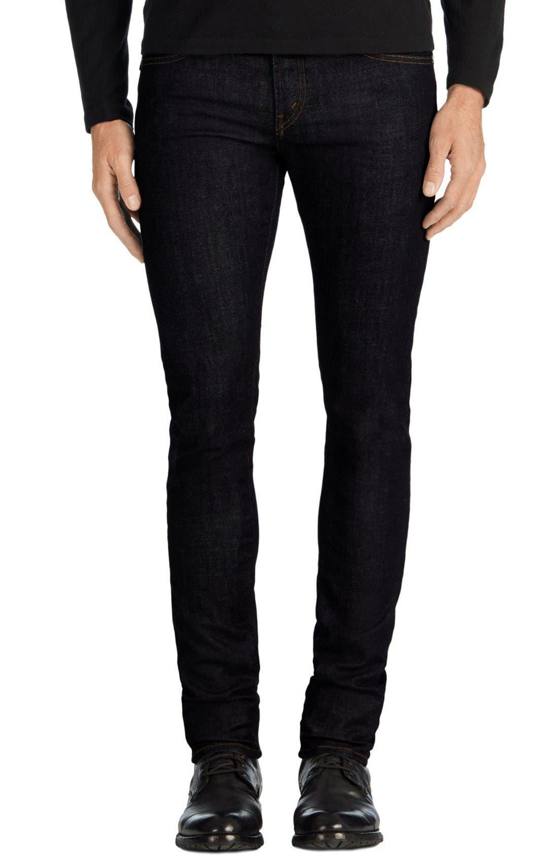 Main Image - J Brand Skinny Jeans (Hood Blue)