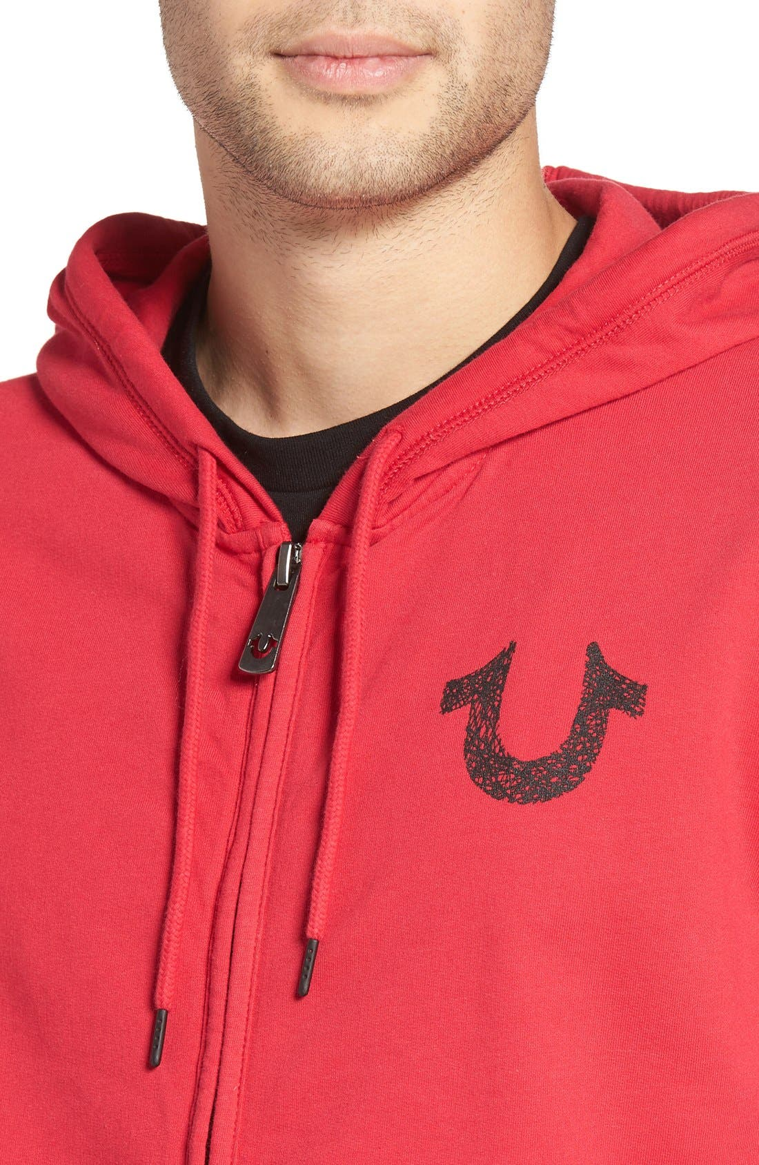 Alternate Image 4  - True Religion Brand Jeans Zip Hoodie